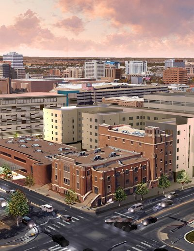 Downtown Aerial Rendering InnovateABQ Site