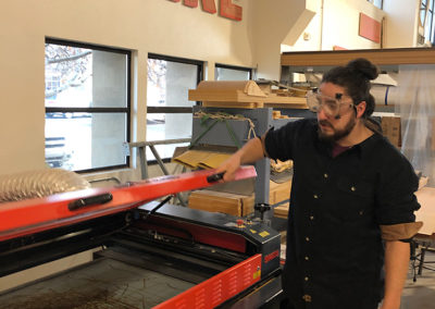 Gian Maestas on Programmable Cutter at the FUSE MakerSpace
