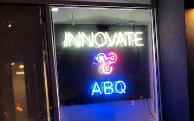 InnovateABQ's New Neon Sign
